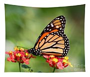 Monarch Butterfly On Lantana Flowers Tapestry