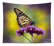 Monarch With Sunflower Tapestry