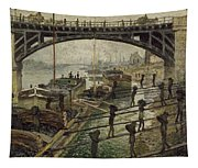 Monet The Coalmen 1875 Tapestry