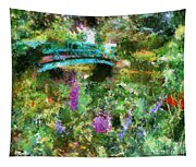 Monet's Bridge In Spring Tapestry