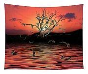 Money Tree Sunset Tapestry