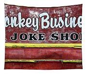 Monkey Business A Joke Shop Tapestry