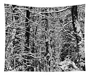 Monochrome Winter Wilderness Tapestry
