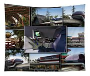Monorail Disneyland Collage Tapestry