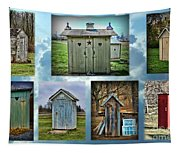 Montage Of Outhouses Tapestry