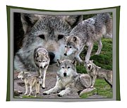 Montana Wolf Pack Tapestry