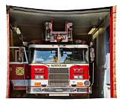 Montclair Fire Truck Tapestry