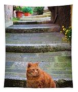 Montepulciano Cat Tapestry