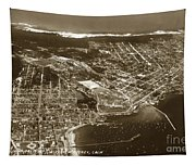 Aerial Of Monterey And Pacific Grove  California Oct. 25 1934 Tapestry