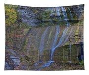 Montour Falls Fall Panorama Tapestry