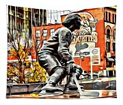Montreal Hockey Lady Tapestry