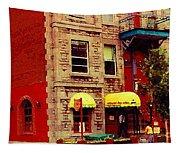 Montreal Memories Restaurant Chez Orphee 362 Fairmount Cb Spandau Montreal Premier City Scene Artist Tapestry