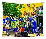Montreal Street Art Murals Festival Painted Graffiti Tags Plein Air Entrepot Mont Royal C Spandau Tapestry