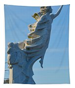 Monument To The Immigrants Statue 4 Tapestry