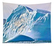 Moody Blues Iceberg Closeup In Saint Anthony Bay-newfoundland-canada Tapestry