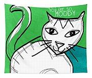 Moody Cat- Pop Art Tapestry