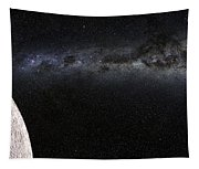 Moon And Galaxy. Tapestry