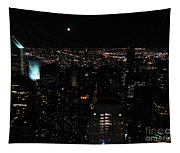Moon Over New York City Tapestry