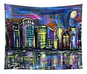 Moon Over Orlando Tapestry