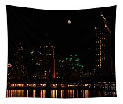 Moon Over San Diego Tapestry