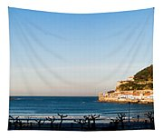 Moon Over The Bay Tapestry