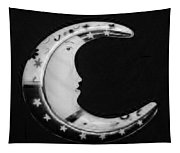 Moon Phase In Black And White Tapestry