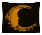 Moon Phase In Orange Tapestry