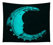 Moon Phase In Turquois Tapestry