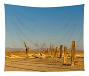Moon Rise Over Waste Land Tapestry