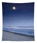 Moon Rising Over Hilton Head Tapestry
