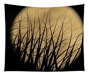Moon Through The Palms Tapestry