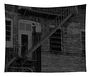Moonlight Fire Escape Usa Near Infrared Tapestry
