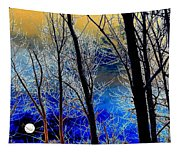 Moonlit Frosty Limbs Tapestry