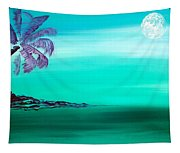 Moonlit Palm Tapestry