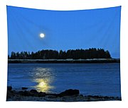 Moonrise Acadia National Park Tapestry