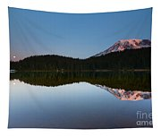 Moonset Over Rainier Tapestry