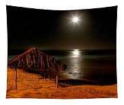 Moonset Over Windnsea Tapestry