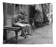 Boys Reading Comics In Moore Street Dublin Tapestry