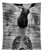 Moose Cabin Tapestry