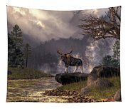 Moose In The Adirondacks Tapestry