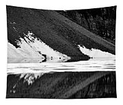 Moraine Lake Abstract - Black And White #2 Tapestry