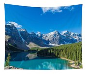 Moraine Lake At Banff National Park Tapestry