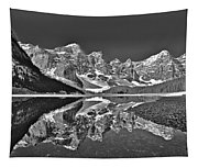 Moraine Lake - Black And White Tapestry