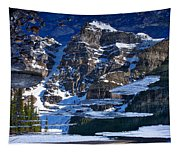 Moraine Lake Reflection Abstract Tapestry