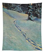 Morning After Snow Tapestry