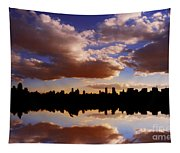 Morning At The Reservoir New York City Usa Tapestry