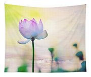 Morning Breeze And Beautiful Lotus Tapestry