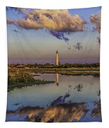 Morning Clouds At Cape May Light Tapestry