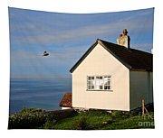 Morning Cottage At Lyme Regis Tapestry