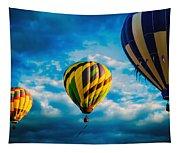 Morning Flight Hot Air Balloons Tapestry